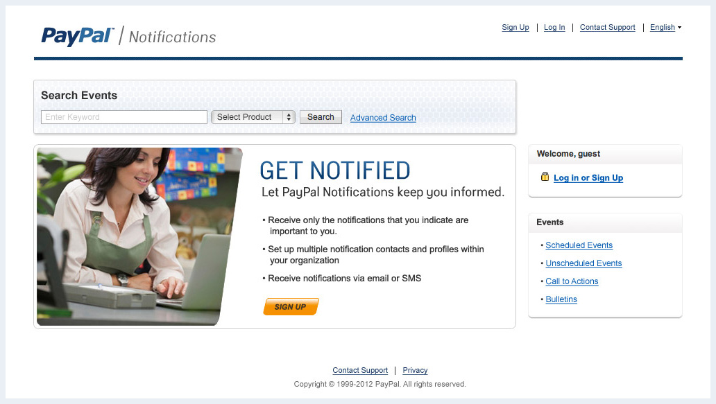PayPal Notification Site