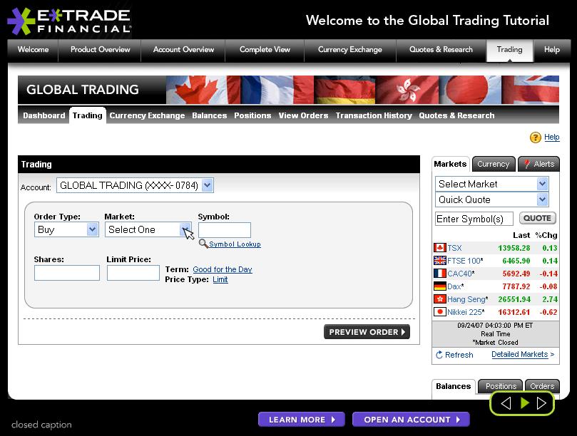 E trade options tutorial