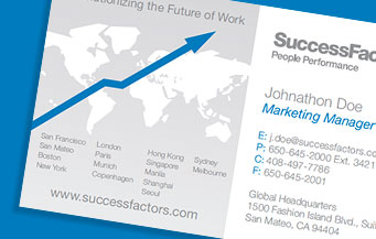 SuccessFactors Business Cards