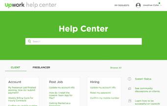 UpWork (oDesk) Help Center